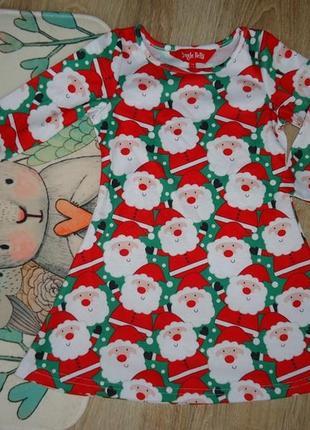 Яркое новогоднее платье george на 2-3 года