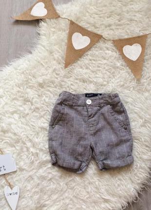 Стильные льняные шорты на 12-18 месяцев