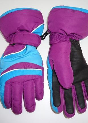 Фирменные высокие перчатки sports на 6-8 лет