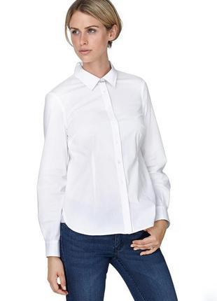 Блуза белая рубашка размер 38, 40, 44, 46 и 48 tchibo тсм