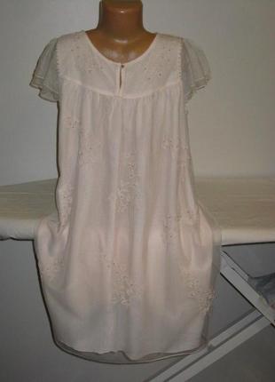 Красивое нежное платье zara с вышивкой