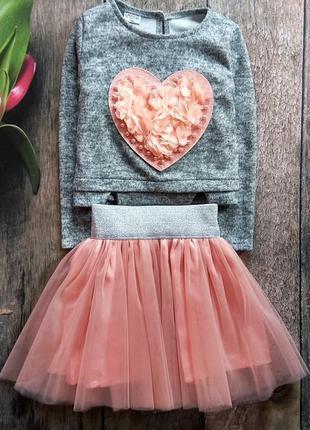 Бомбовий костюм: реглан, фатінова юбка. матеріал реглану: ангора.