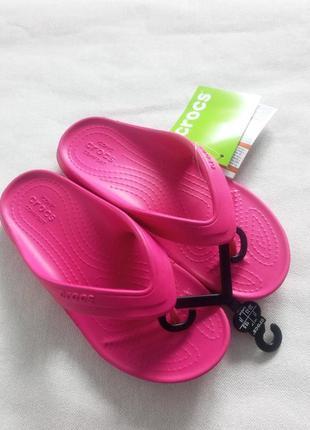 Crocs classic flip кроксы вьетнамки 32-33р j1 стелька 21 см розовые