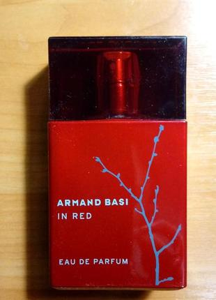 Парфюмированная вода armand basi in red 50мл.осталось около 30%.оригинальная