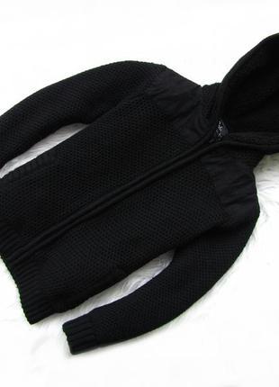 Стильная теплая кофта реглан   с капюшоном rebel.
