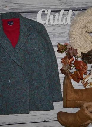 10 лет 140 см фирменное очень крутое теплое пальто бойфренд стильной девочке италия