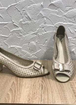 Распродажа 37р кожа туфли летние