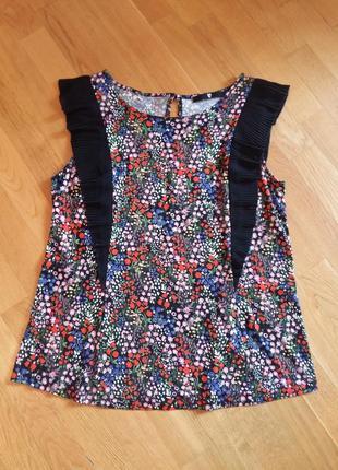 Вискозная яркая блузка v by very 16 размер
