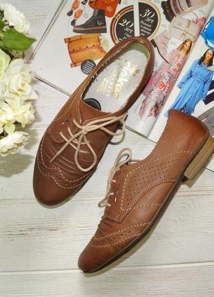 Rieker. кожа. комфортные фирменные туфли, оксфорды на шнуровке