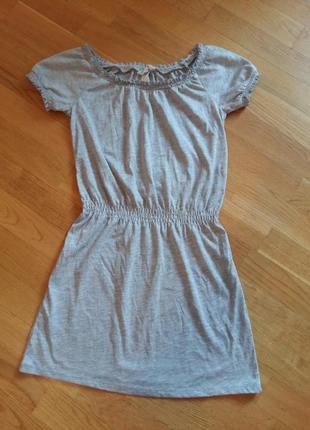 Легкое трикотажное платье h&m на 8-10 лет открытые плечи