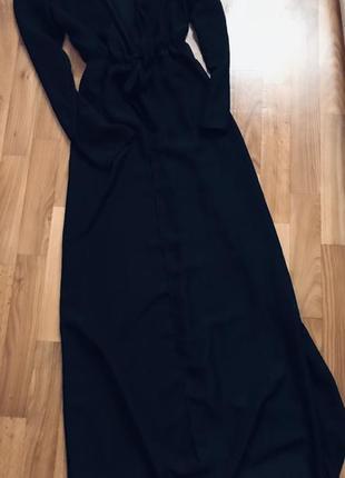 Красивенная чёрная пляжная туника накидка на купальник в пол хс-м-л3 фото