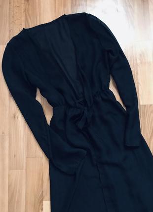 Красивенная чёрная пляжная туника накидка на купальник в пол хс-м-л4 фото
