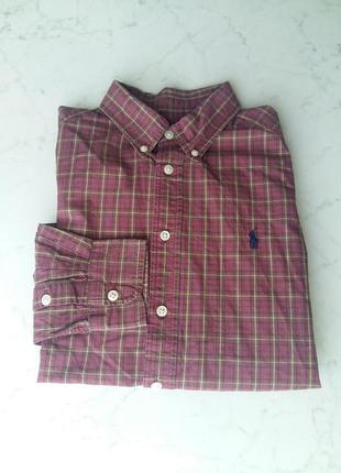 Стильная яркая рубашка ralph lauren на 10-12 лет
