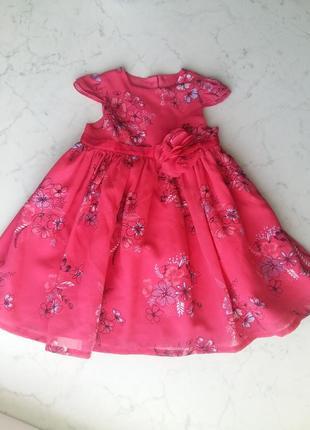 Экстра пышное шифоновое платье geprge на 12-18 месяцев