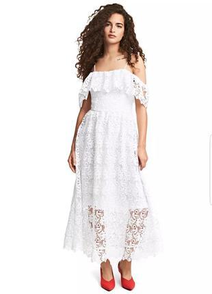 Шикарное вечернее, выпускное, свадебное платье миди h&m.