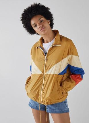 Классная куртка ветровка трёхцветная