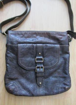 Мужская кожаная сумка - планшет marks & spencer.