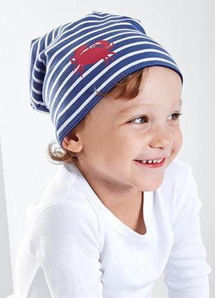 Двусторонняя хлопковая шапка тсм tchibo, размер 49-52см