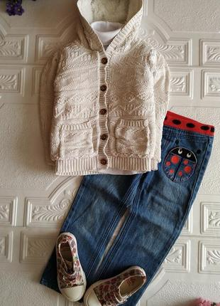 Пакет фирменных вещей (кофта на меху, гольф, джинсы, мокасины)
