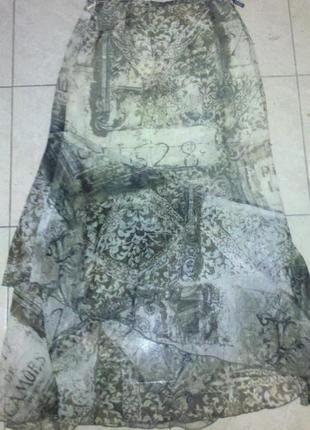 Шифоновая юбка в пол р с-м