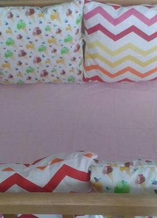 Бортики в детскую кроватку на 4 сторони