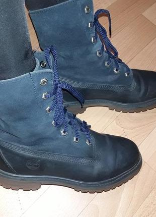 Фирменные кожаные демисезонные ботинки на низком ходу timberland рр 38