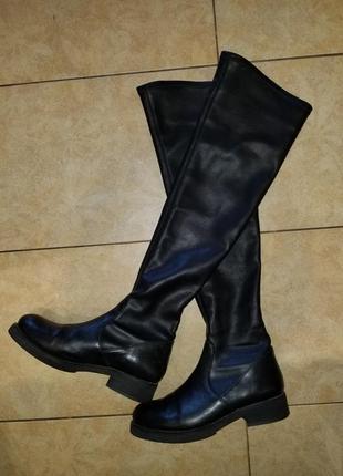 Итальянские кожаные сапоги