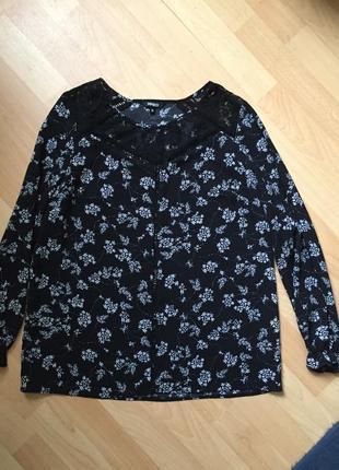 Блузка с кружевом asos