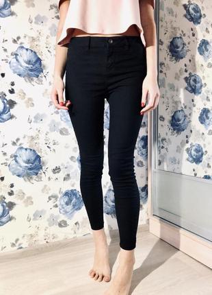 Базовые чёрные штаны  skinny
