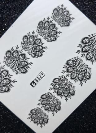 Слайдеры для дизайна ногтей 💅 водные наклейки на гель лак стикеры