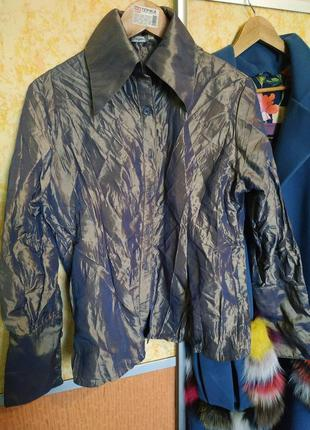 Рубашка - хамелеон с фабричной мятосью