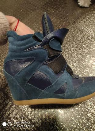 Кожаные весенние ботинки сникерсы