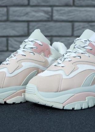 Женские крутые кроссовки розовые ash addict