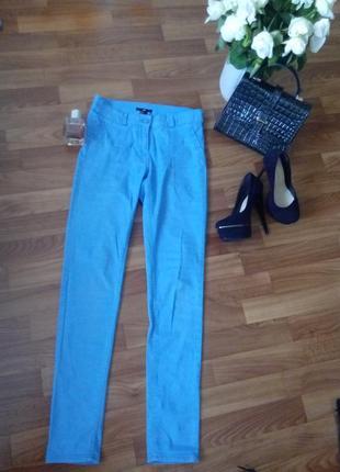 Зауженые брюки с высокой посадкой h&m