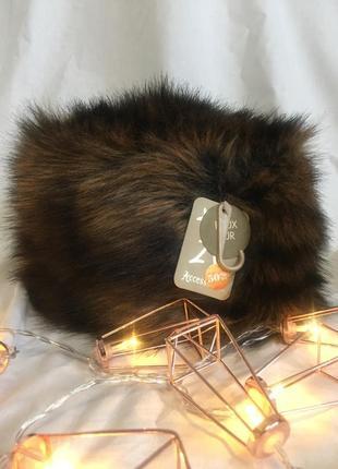 Трендовая шапка из искусственного меха accessorize