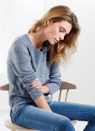 Интересный свитерок из меланжевой пряжи от tchibo, германия