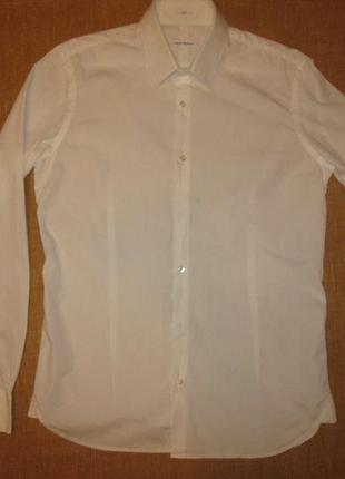 Белая рубашка robert friedman оригинал италия мужская сорочка slim fit