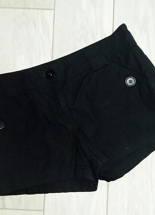 Черные хлопковые шорты h&m размер m