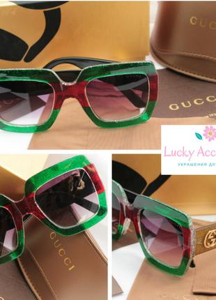Красивые очки в зеленом цвете
