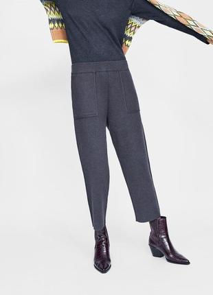 Классные мягкие теплые брюки джоггеры от zara ! в наличии размер м