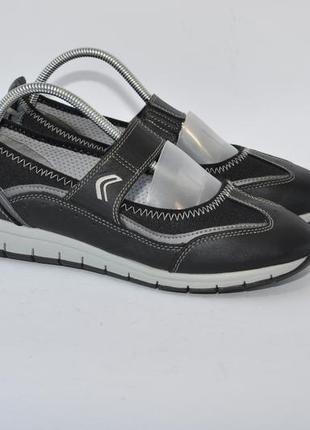 Туфли мокасины geox 39р 25,5см кожа идеал