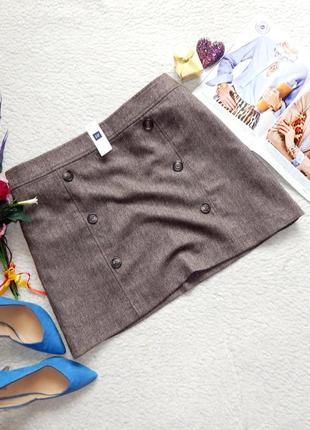 Новая теплая юбка gap с шерстью plus size 18
