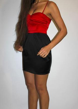 Черное с красным платье h&m по фигуре - -срочная уценка платьев 300 ед --