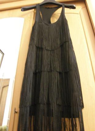 Patrizia pepe оригинальное платье майка с бахромой !