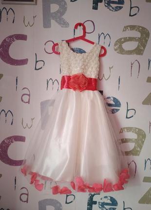 Платье sonia праздничное девочка 5-6 лет(110-116см) в идеале
