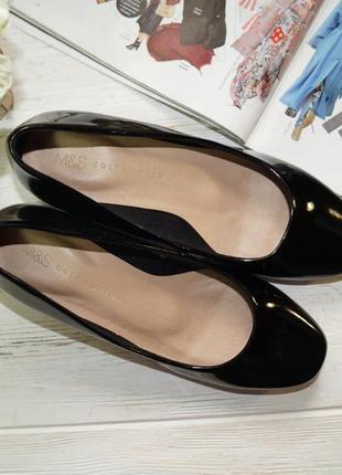 Marks&spencer. красивые туфли на низком каблучке в леопардовый принт3