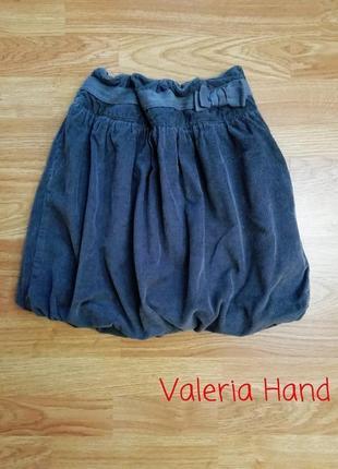 Пышная современная вельветовая юбка vertbaudet - возраст 10-11 лет