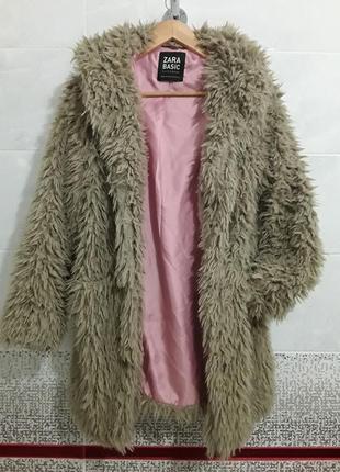 Отличная легкое меховое пальто