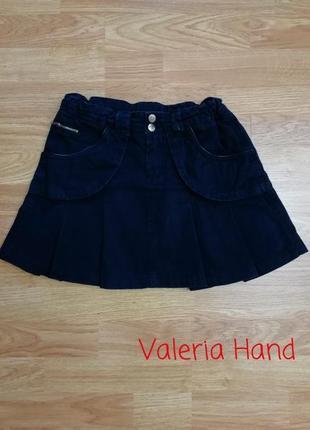 Плотная коттоновая фирменная брендовая юбка zara - возраст 10-12 лет
