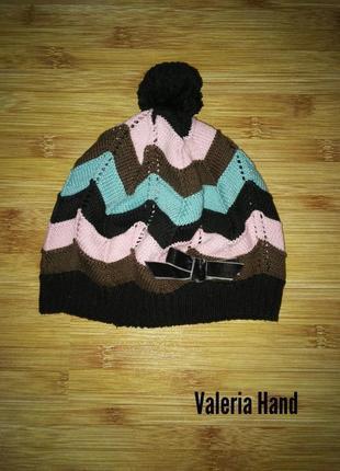 Демисезонная шапка - берет для девочки h&m - возраст 6-8 лет